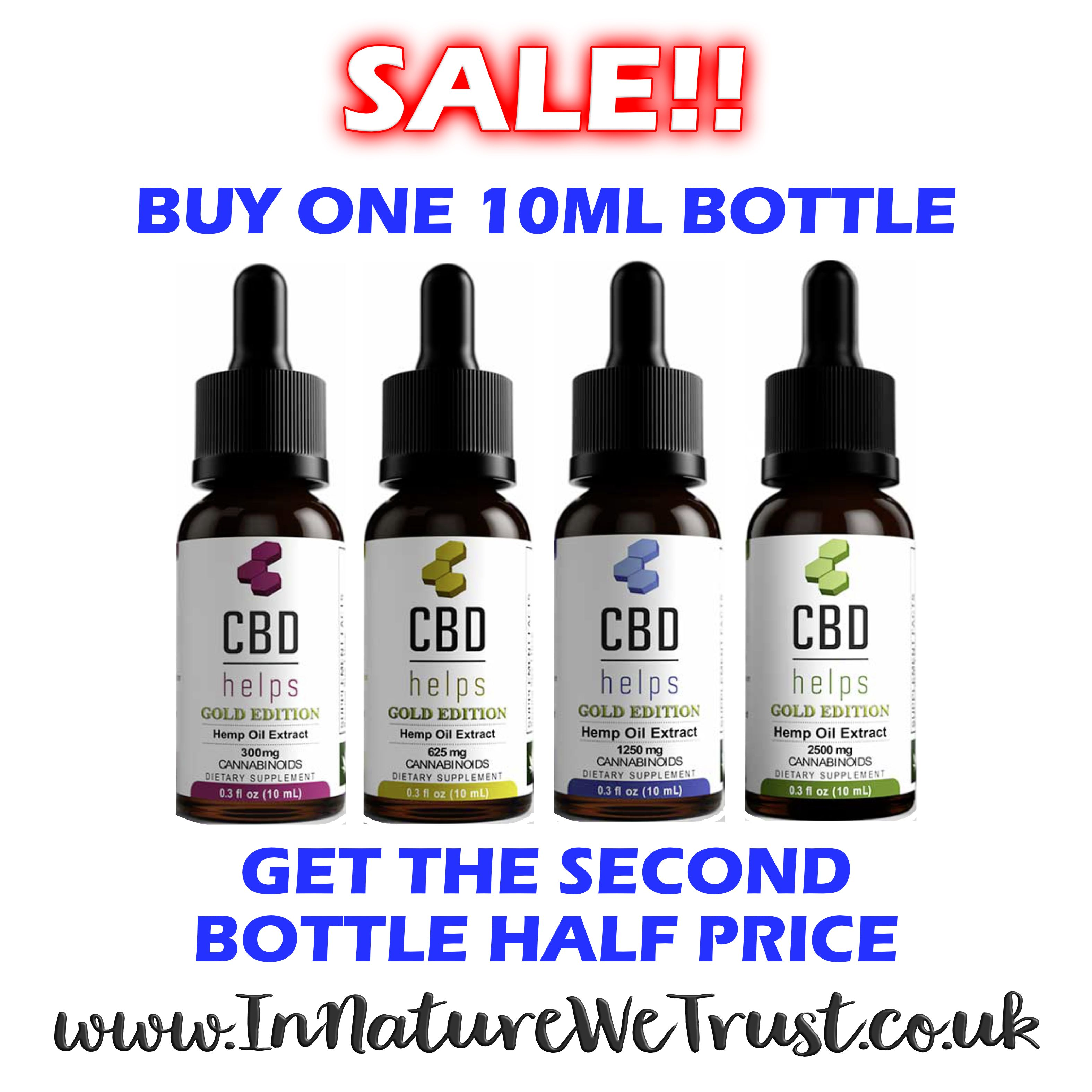 CBD sale buy one get one half price